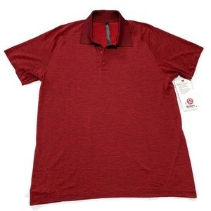 Lululemon Men's Red Metal Vent Tech Polo Shirt